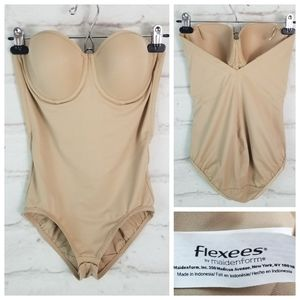 Flexees 36C Nude Strapless One Piece Shapewear